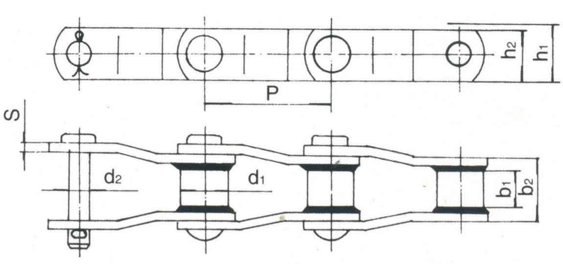 焊接弯板链 ISO6972 GB/T 15390-1994