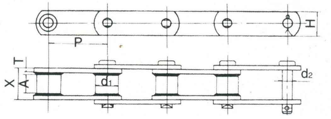 焊接直板链 ISO6972